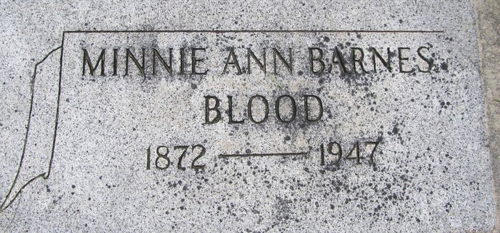 Minnie Ann <i>Barnes</i> Blood