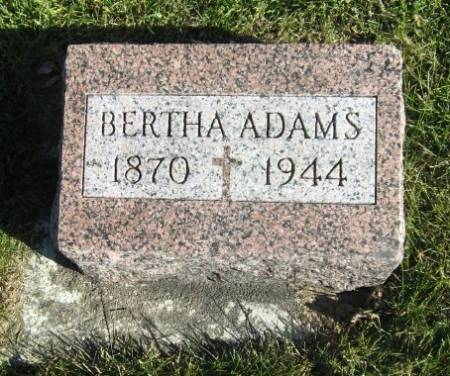Bertine Elizabeth Bertha <i>Matson</i> Adams