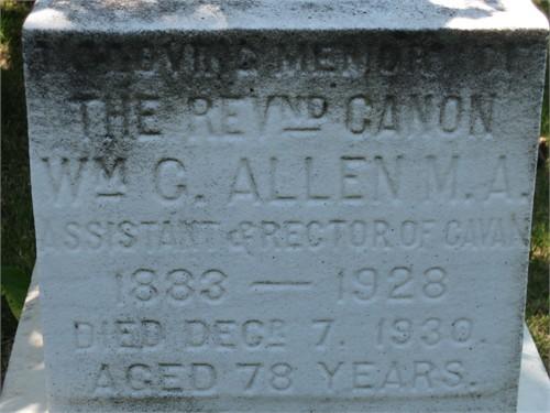 Rev William Cartwright Allen