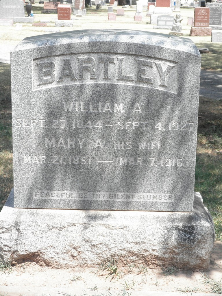 Mrs Mary Ann <i>Banks</i> Bartley