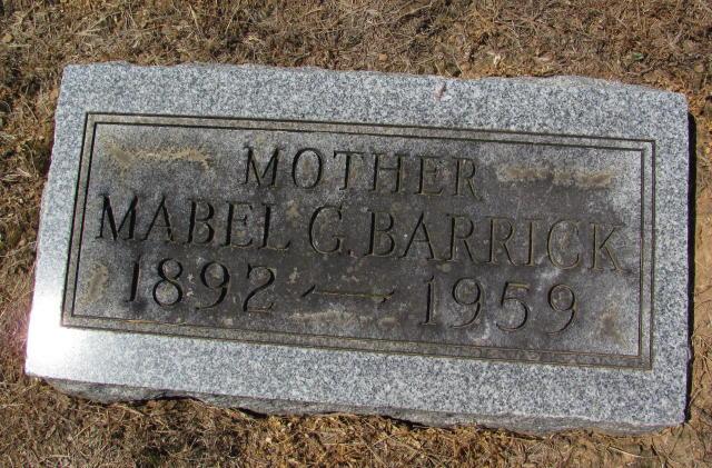 Mabel Grace <i>Bowers</i> Barrick