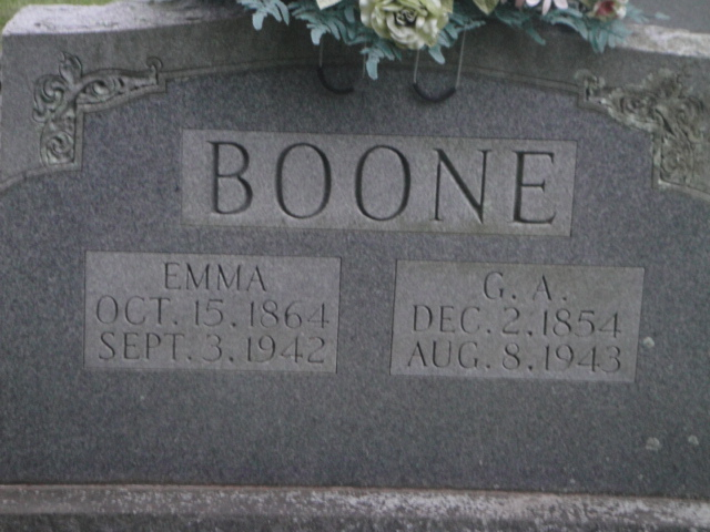 Sarah Emma <i>Fortner</i> Boone