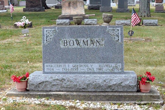 Gertrude V. <i>Ray</i> Bowman