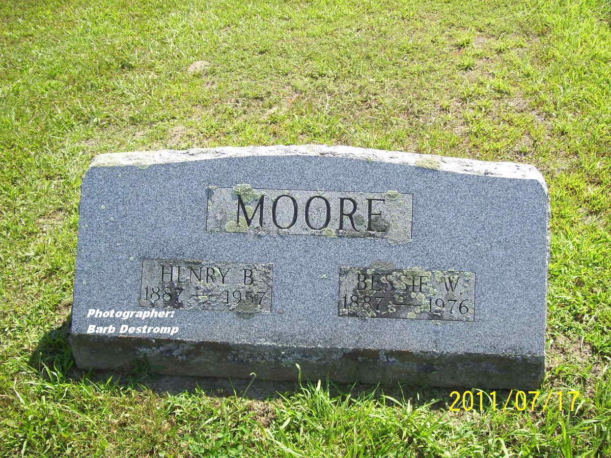 Bessie W <i>Palmer</i> Moore