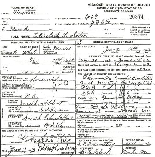 Elizabeth L. <i>Abbott</i> Sater