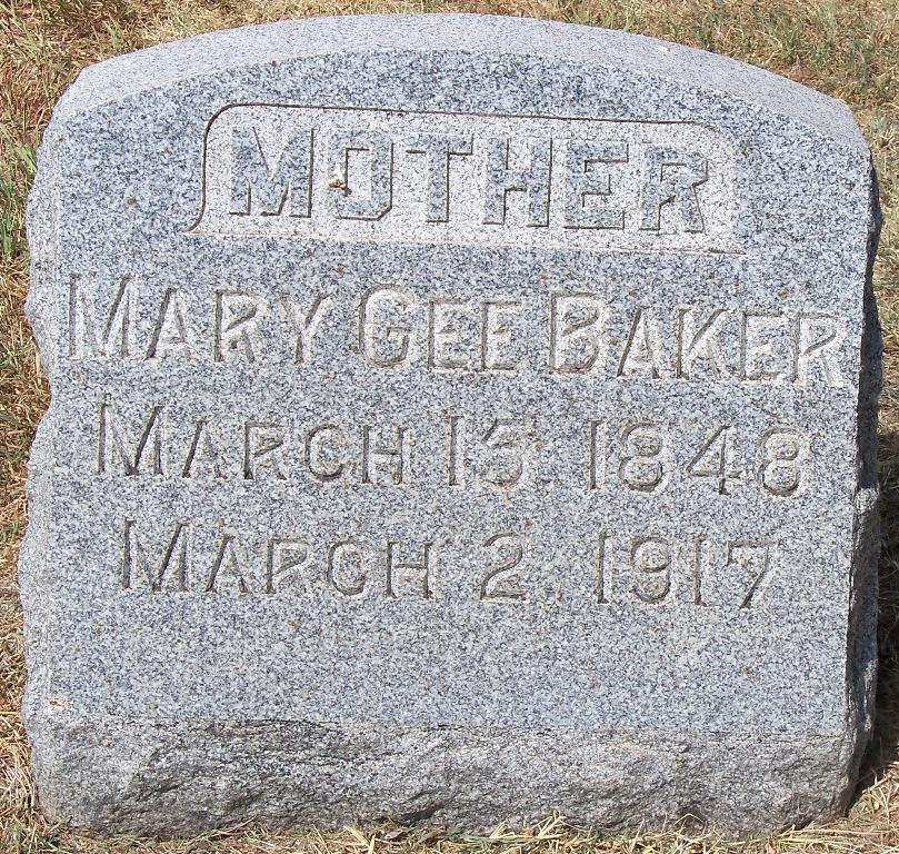 Mary Gee <i>Bennett</i> Baker