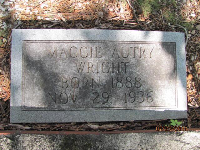 Maggie <i>Autry</i> Wright