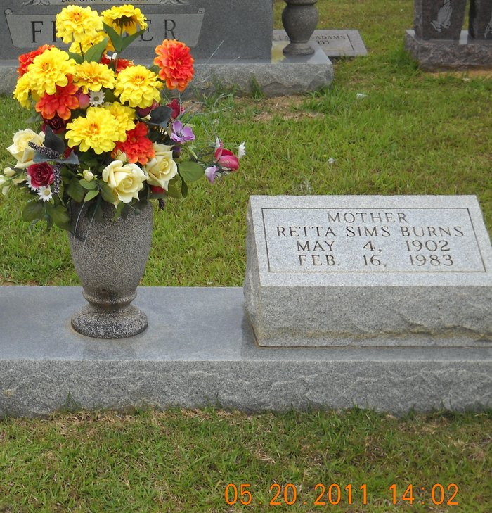 Retta Sims Burns (1902-1983) - Find A Grave Memorial