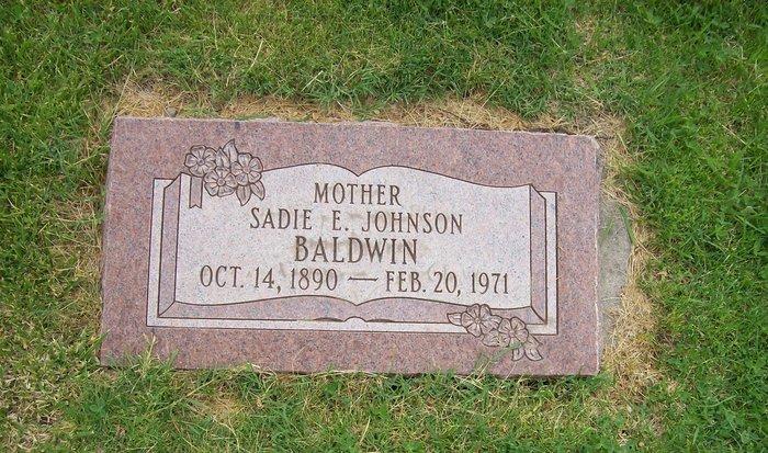 Sadie Elda <i>Johnson</i> Baldwin