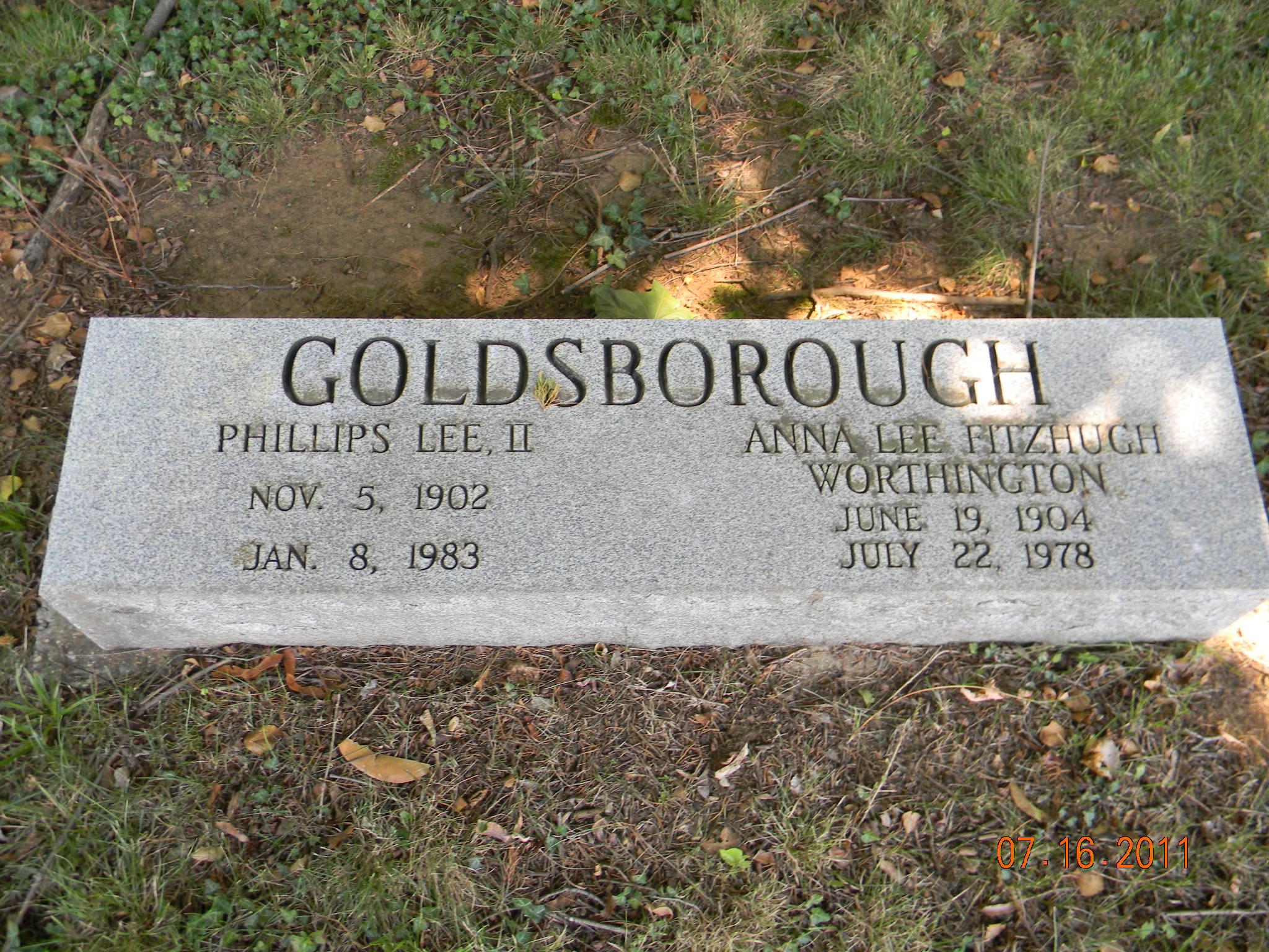 Anna Lee Fitzhugh <i>Worthington</i> Goldsborough
