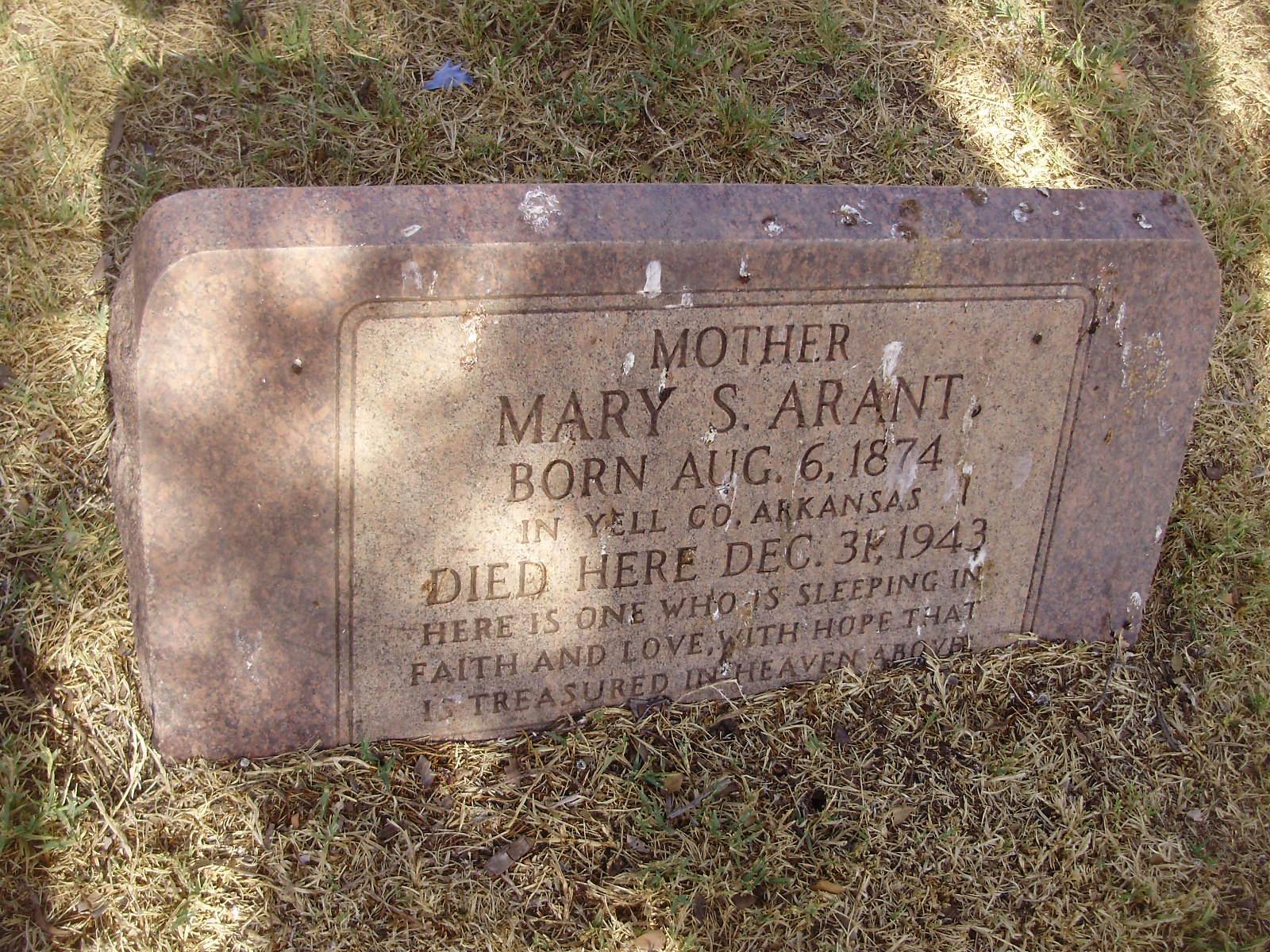 Mary Susan <i>Marr</i> Arant