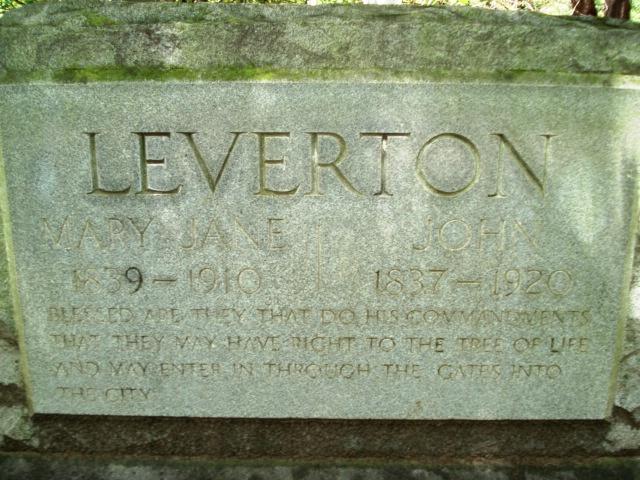 Mary Jane <i>Thomas</i> Leverton
