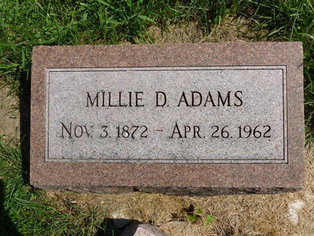 Millie Belle <i>Davison</i> Adams