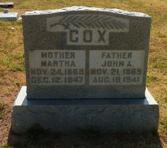 Martha Susan Mattie <i>McBroom</i> Cox