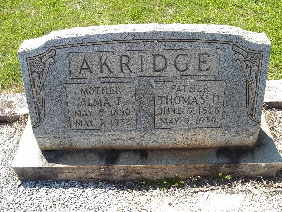 Alma Ernestine <i>Billingsley</i> Akridge