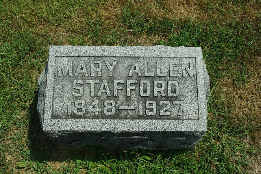Mary Jane <i>Allen</i> Stafford