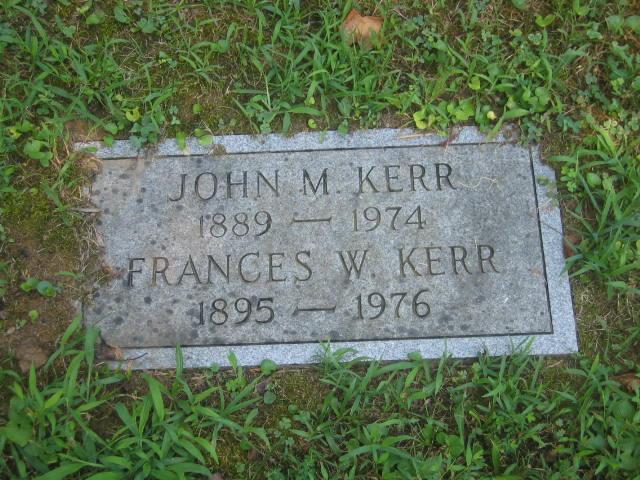 Frances C. Fannie <i>Washington</i> Kerr
