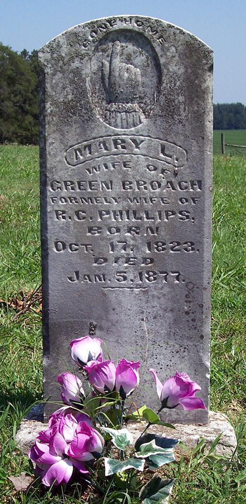 Mary L. <i>Finley</i> Broach