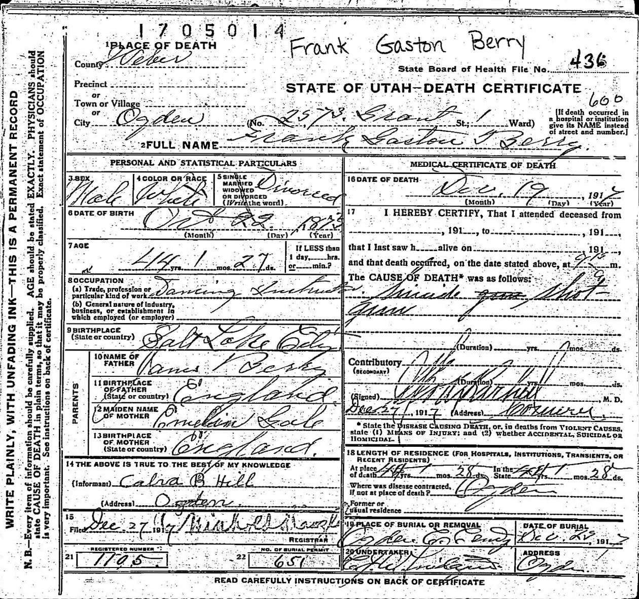 Francis Gaskin Frank Berry