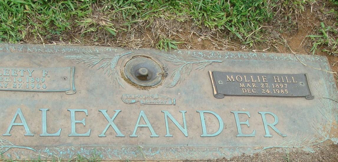Mollie <i>Hill</i> Alexander