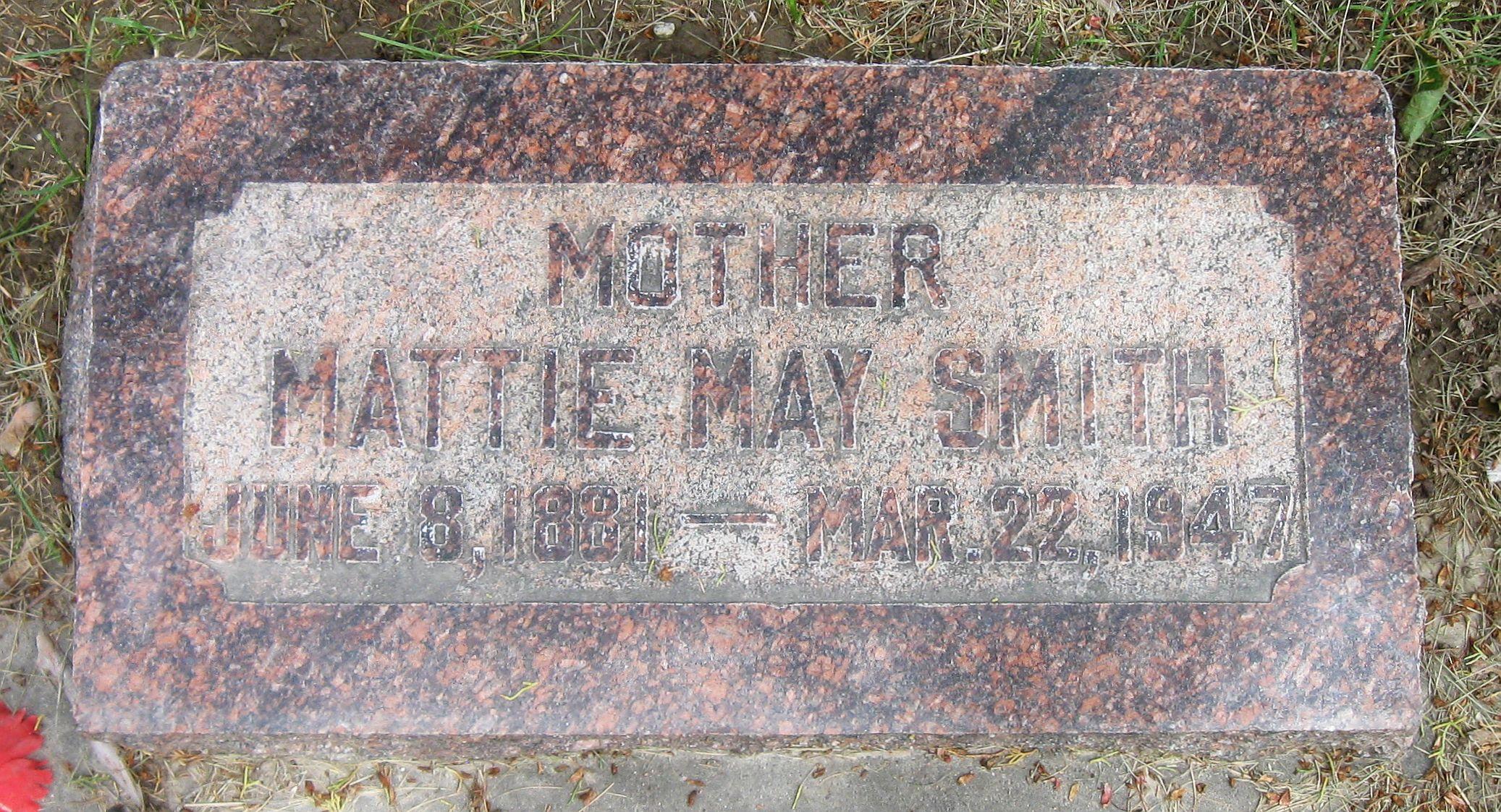 Mattie May <i>Hardman</i> Smith