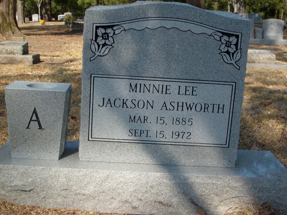 Minnie Lee <i>Jones</i> Ashworth