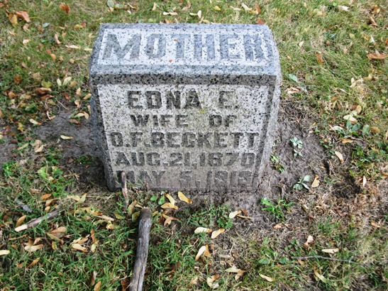 Edna Elizabeth <i>Irving</i> Beckett