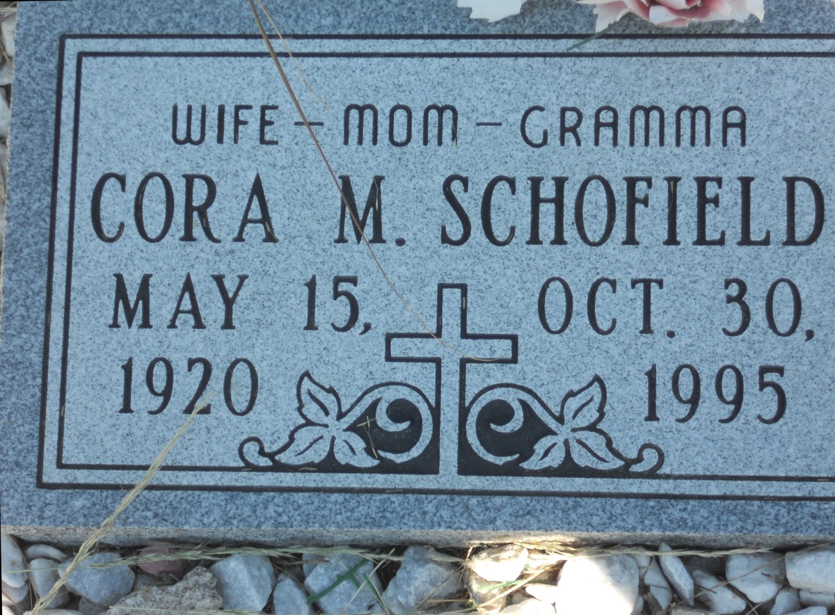 Cora May G Schofield