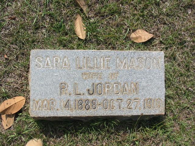Sara Lillie <i>Mason</i> Jordan