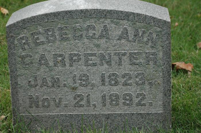Rebecca Ann <i>Overturf</i> Carpenter