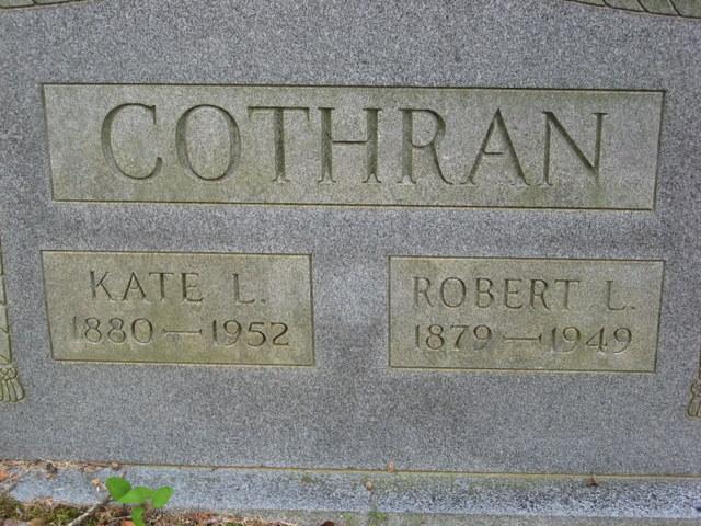 Kate L <i>Craig</i> Cothran