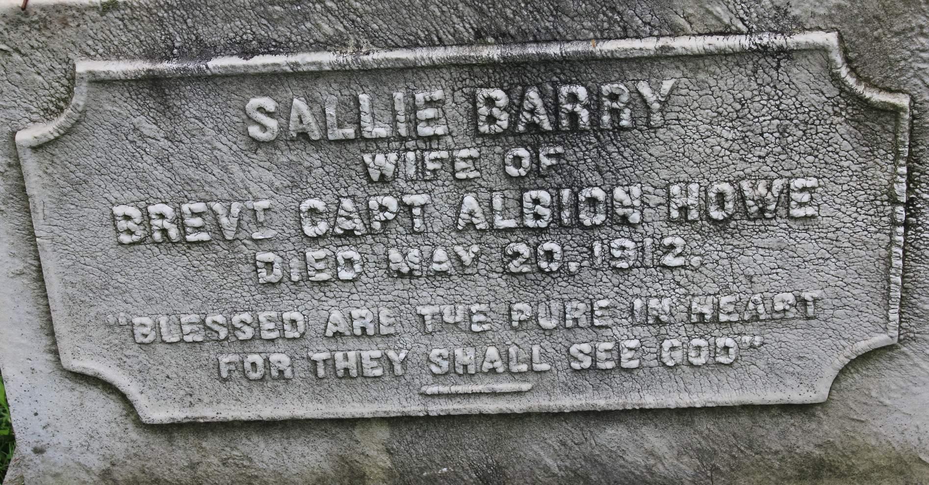 Sarah McKnight Sallie <i>Barry</i> Howe