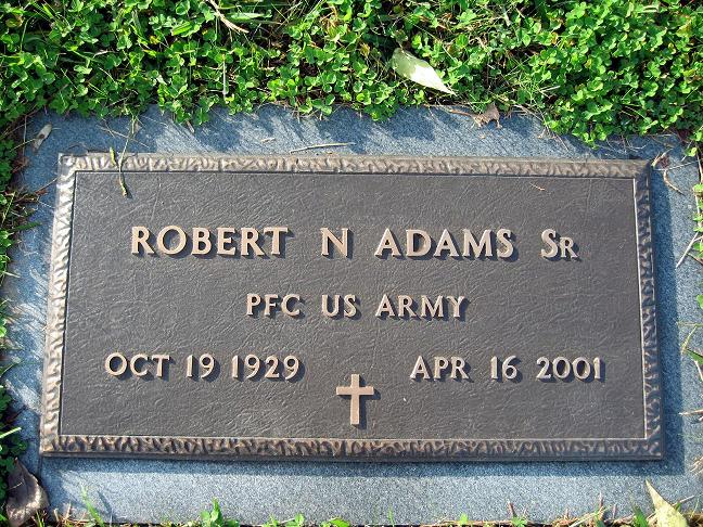 Robert N Adams, Sr