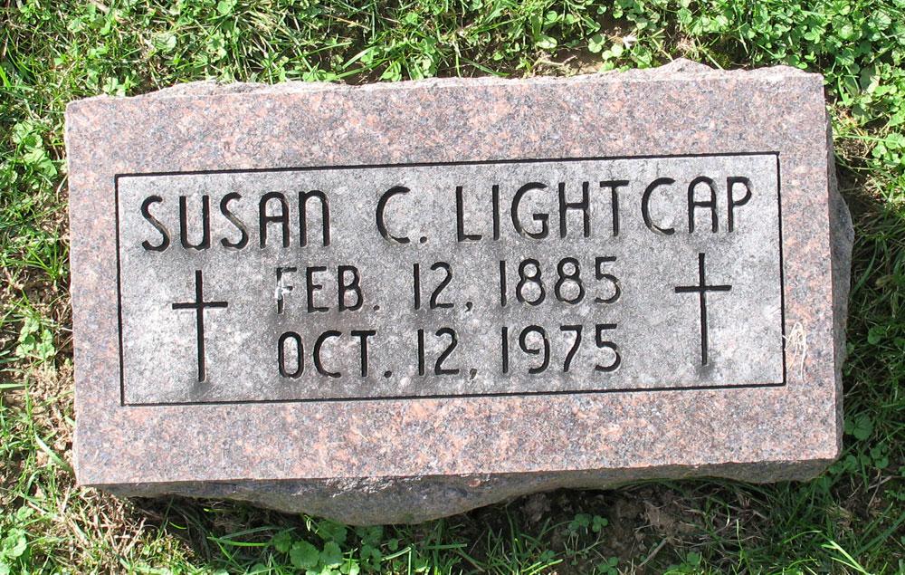 Susan C Susie <i>Lensing</i> Lightcap