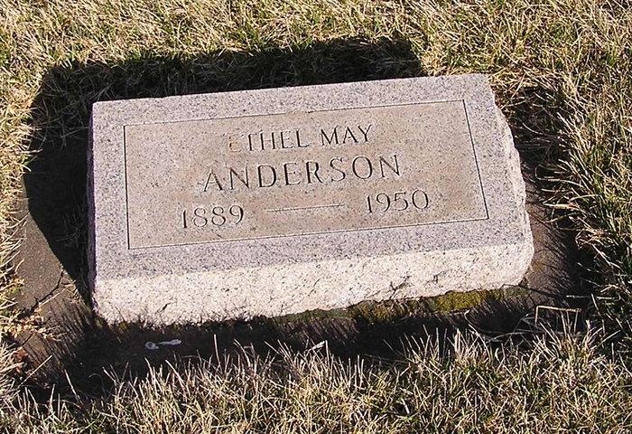 Ethel May <i>Matlock</i> Anderson