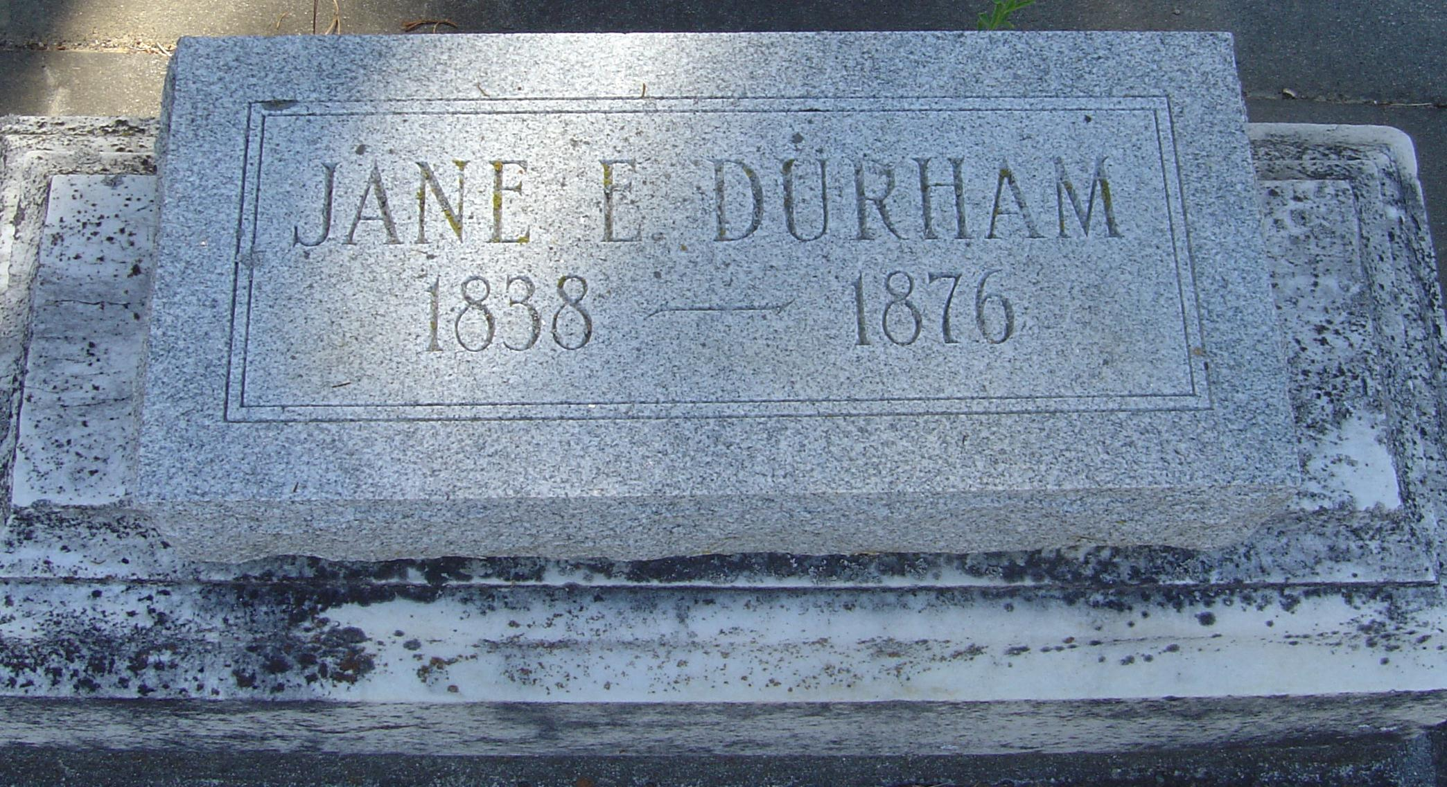 Jane Eliza <i>Sherman</i> Durham