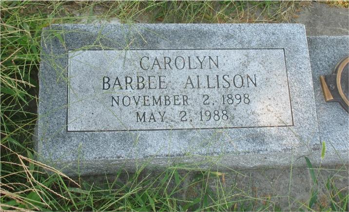 Carolyn <i>Barbee</i> Allison