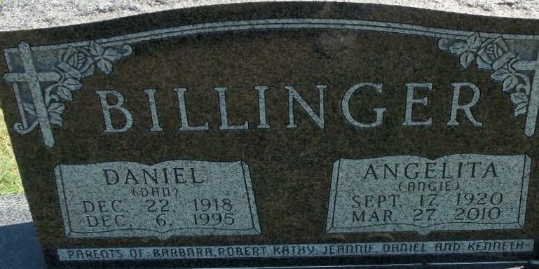 Angelita S. Angie <i>Giebler</i> Billinger