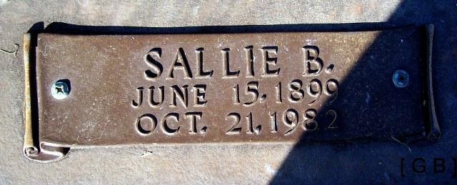 Sallie Belle <i>Stricklin</i> Tucker
