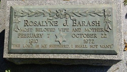 Rosalyne J <i>Silver</i> Barash
