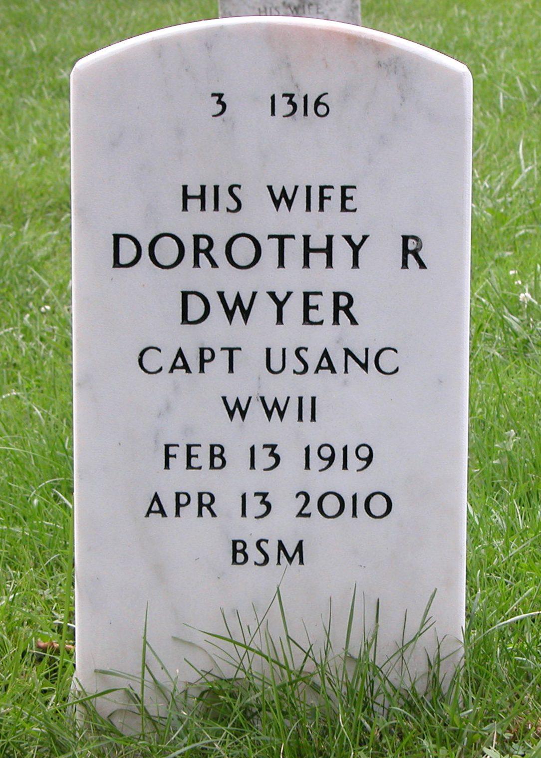 CPT Dorothy Rebekah <i>McKee</i> Dwyer