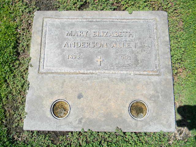 Mary Elizabeth <i>Anderson</i> Allen