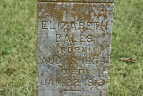 Sarah Elizabeth <i>Myres</i> Bales