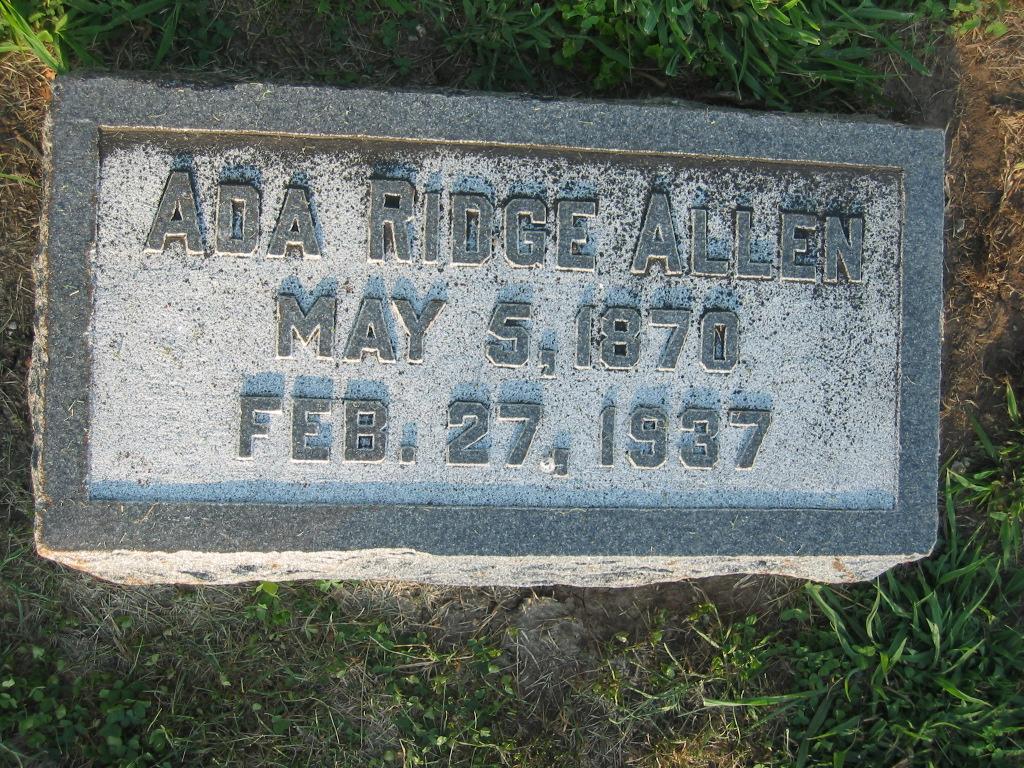 Ada <i>Ridge</i> Allen