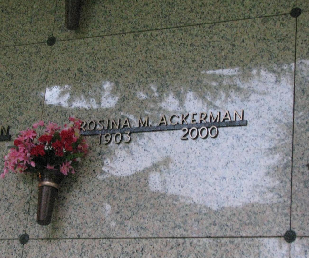 Rosina M Ackerman