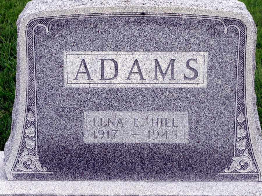 Lena E. <i>Hill</i> Adams