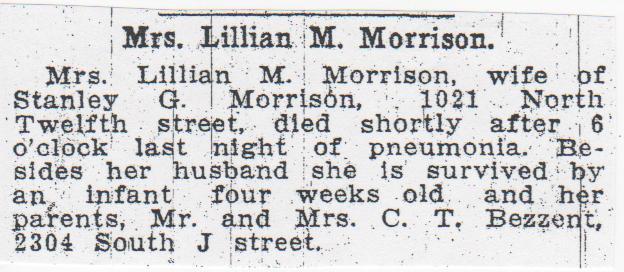 Lillian M. <i>Binder Bezzant</i> Morrison