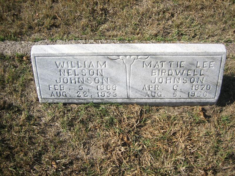 Mattie Lee <i>Birdwell</i> Johnson