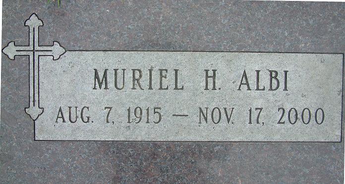 Muriel Helen <i>Doran</i> Albi
