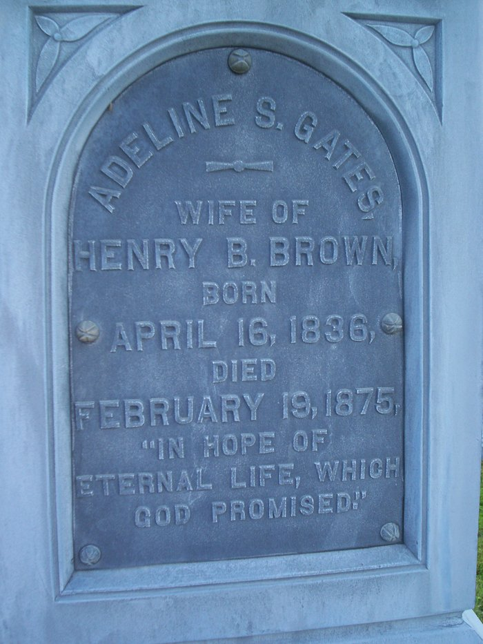 Adeline Strong <i>Gates</i> Brown